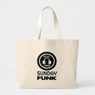 SUNDAYFUNK TEE LARGE TOTE BAG