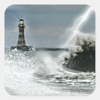 Sunderland - Roker Pier & Lighthouse Square Sticker
