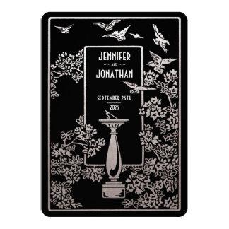 Sundial Garden Wedding Invitations Silver Foil