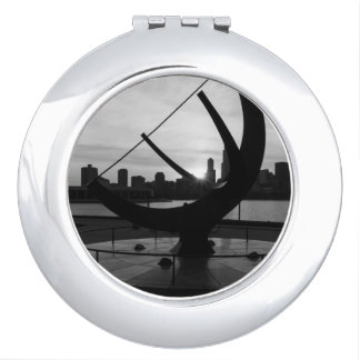 Sundial Sunset Grayscale Mirror For Makeup