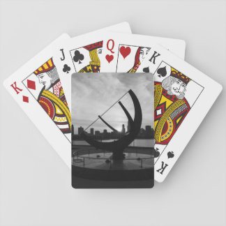 Sundial Sunset Grayscale Playing Cards