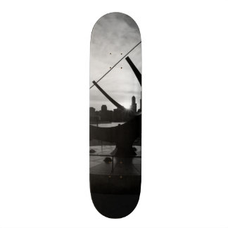 Sundial Sunset Grayscale Skate Board Decks