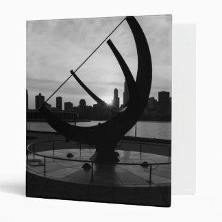 Sundial Sunset Grayscale Vinyl Binders