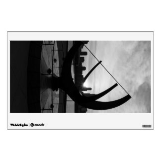 Sundial Sunset Grayscale Wall Decal