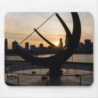 Sundial Sunset Mouse Pad