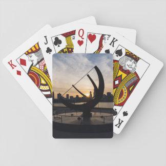 Sundial Sunset Playing Cards