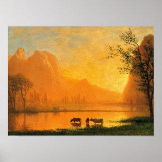 Sundown at Yosemite Matte Poster