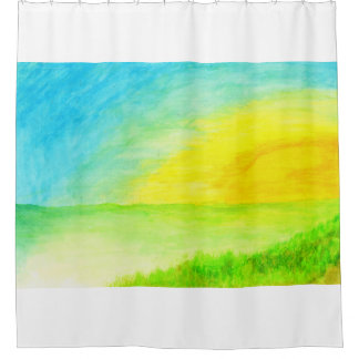 """Sundown Borderline"" watercolor landscape"