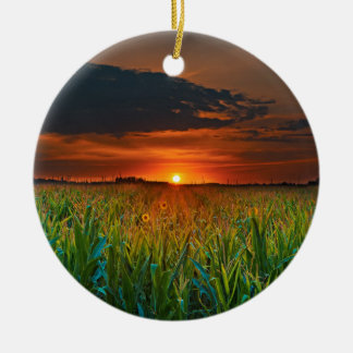Sundown Ceramic Ornament