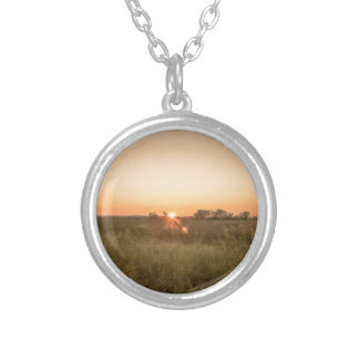 Sundown Silver Plated Necklace