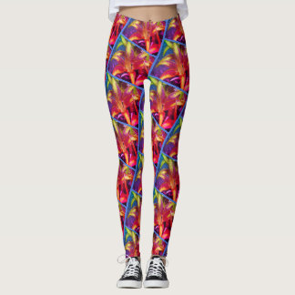 Sunfire Asiatic Lilies Leggings [Miami filter] blu