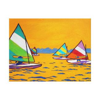 Sunfish Sailboat Race Canvas Print