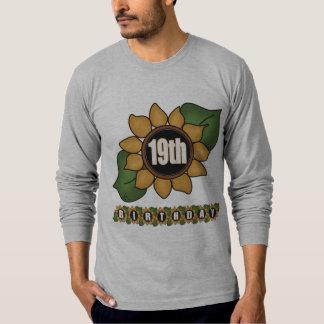 Sunflower 19th Birthday Gifts T Shirts