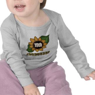 Sunflower 19th Birthday Gifts Shirt