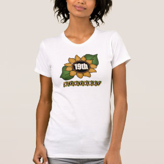 Sunflower 19th Birthday Gifts Shirt