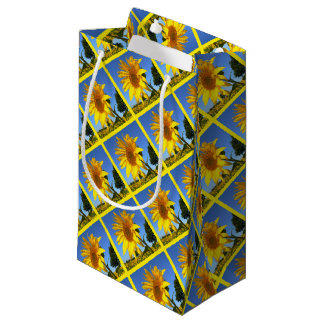 Sunflower 3.0, Field Of Sunflowers Small Gift Bag