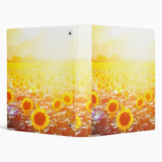 Sunflower 3 Ring Binders