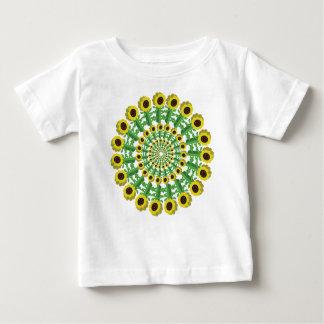 Sunflower 3D Circular Pattern Baby T-Shirt