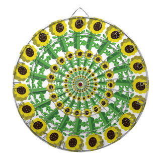 Sunflower 3D Circular Pattern Dartboard