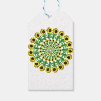Sunflower 3D Circular Pattern Gift Tags
