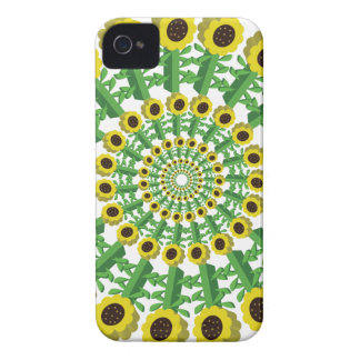 Sunflower 3D Circular Pattern iPhone 4 Case-Mate Cases