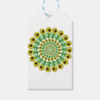 Sunflower 3D Circular Pattern Pack Of Gift Tags