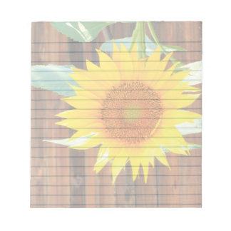 "Sunflower  5.5x6"" notepad"
