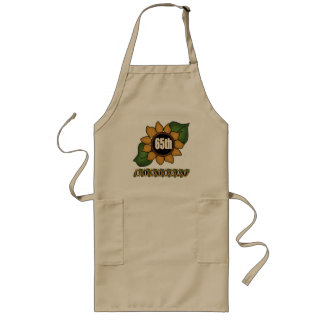 Sunflower 65th Birthday Gifts Long Apron