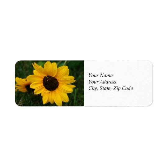 Sunflower Address Label