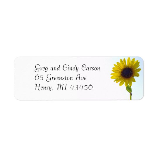 Sunflower Address Labels