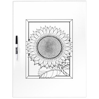 Sunflower Adult Coloring Dry-Erase Whiteboards