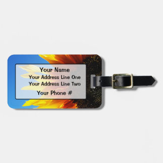 Sunflower Aflame Luggage Tag