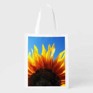 Sunflower Aflame Reusable Grocery Bag