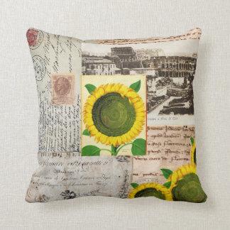 Sunflower Ancient Rome Italian Pillow
