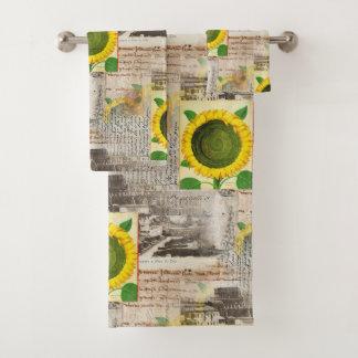 Sunflower Ancient Rome Italian Towel Set