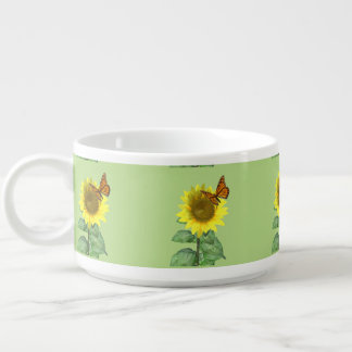 Sunflower and Butterfly Chili Bowl