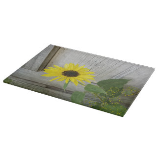 Sunflower and Dill Cutting Board