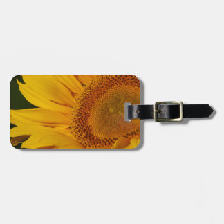 Sunflower and meaning luggage tag