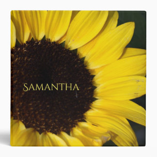 Sunflower And Name Vinyl Binder