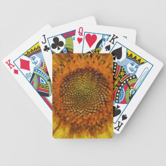 Sunflower and Seeds In Van Gogh Style Bicycle Playing Cards