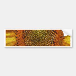 Sunflower and Seeds In Van Gogh Style Bumper Sticker