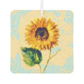 Sunflower Art Car Air Freshener