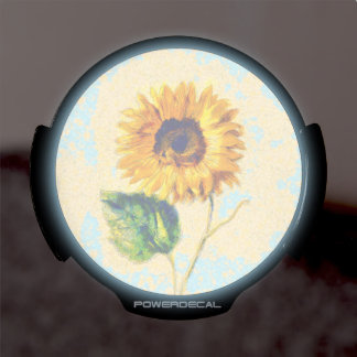 Sunflower Art LED Auto Decal