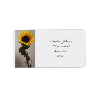 Sunflower Artistic Elegant Nostalgic Trendy Label