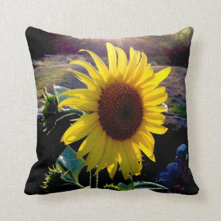 Sunflower at Sunset --- Throw Pillow