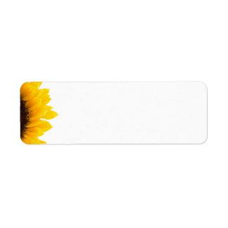 sunflower Avery Label