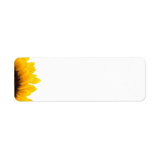sunflower Avery Label Return Address Label