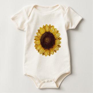 sunflower baby bodysuit