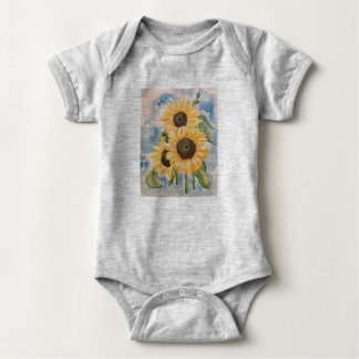Sunflower Baby Jersey Baby Bodysuit