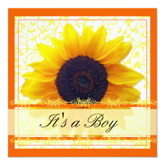 Sunflower Babyshower Invitation